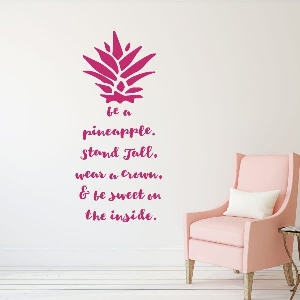 Be A Pineapple Wall Decal  Removable Sticker U2013 With Hawaiian Tropical  Pineapple Design U2013 Pineapple Decor  Teen Girl Bedroom Decor, Vinyl Art