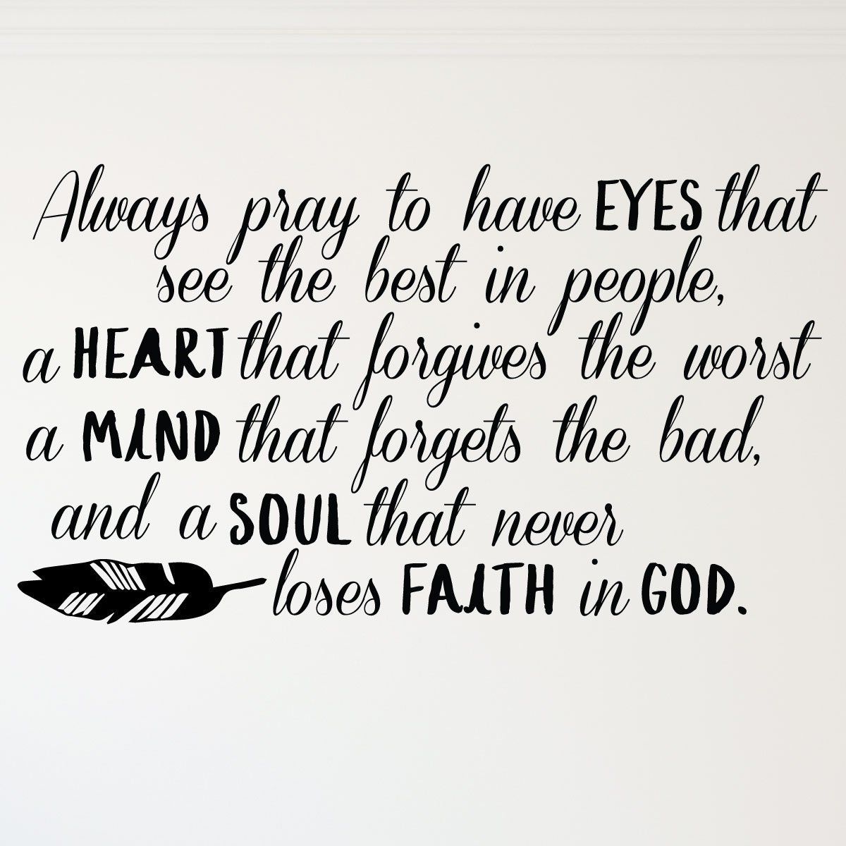Prayer Wall Decor Always Pray To Have Eyes That See The