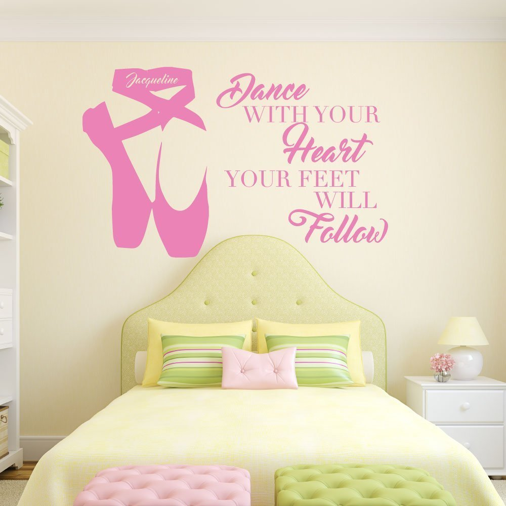 Personalized Ballerina Wall Decor -Dance With Your Heart Your Feet ...