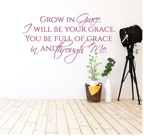 Scripture Wall Art - Grow in Grace Quotes, Christian Wall Decor ...