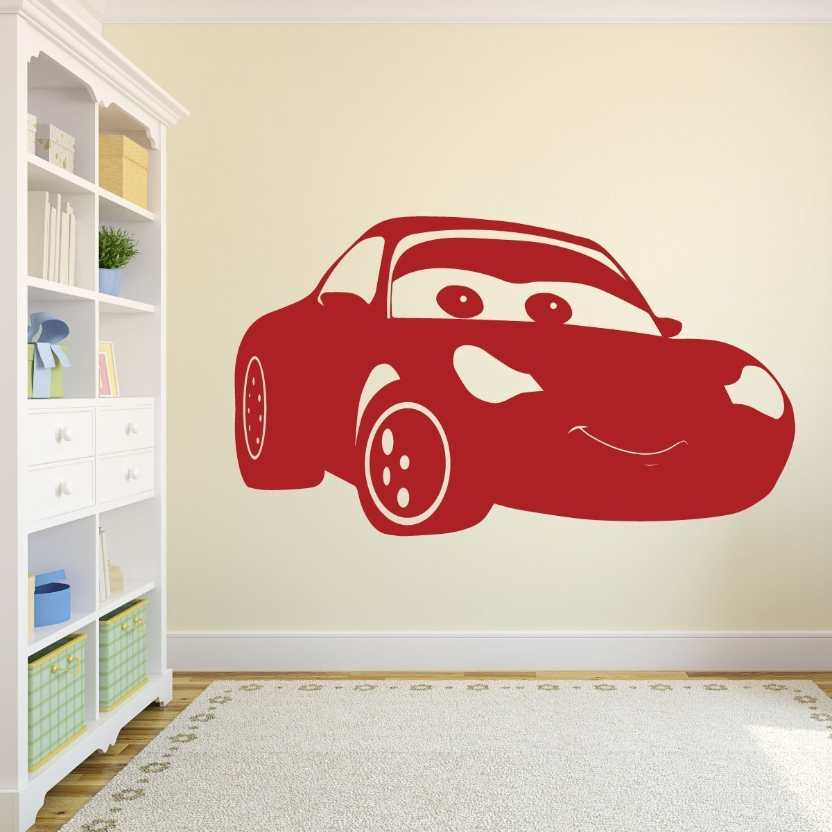 Disney Cars Sally Vinyl Decoration - Pixar Wall Decal - Personalized Removable Art Sticker for Bedroom, Playroom, or Gameroom