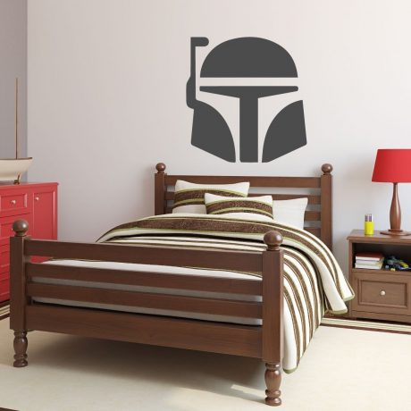 Star Wars Wall Decor -Personalized Jango Fett or Boba Fett Decal - Removable Wall Decoration For Boy's Bedroom Decor, Playroom or Game Room