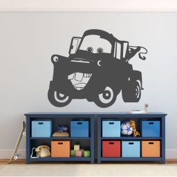 Tow Mater Wall Decal - Disney Pixar Cars Personalized Wall Decor - Removable Vinyl Decoration for Boy's Bedroom, Playroom or Gameroom