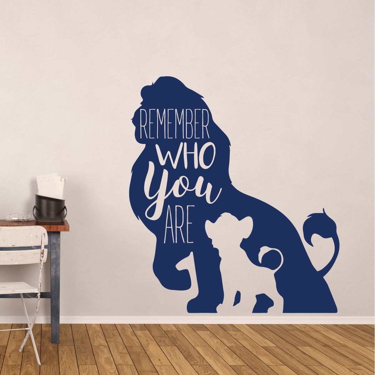 Simba Wall Decor - Disney The Lion King Decor- Remember Who You Are - Vinyl Decoration for Bedroom, Classroom, Playroom Decorations
