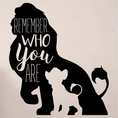 Simba Wall Decor Disney The Lion King Decor Remember Who You Are Vinyl Decoration For Bedroom Classroom Playroom Decorations