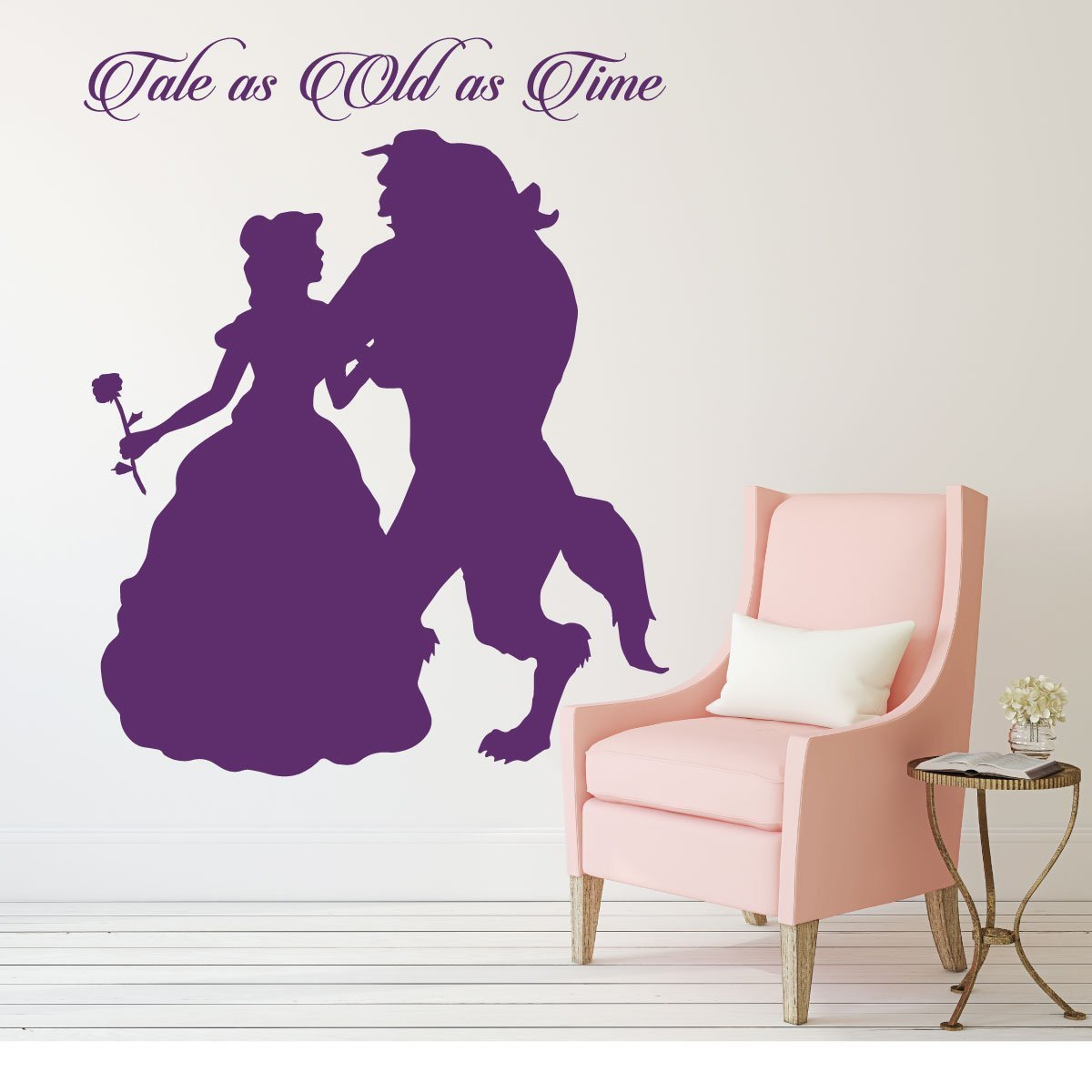 Disney Princess Belle Wall Decal - Beauty and the Beast Theme Decor - Tale As Old As Time