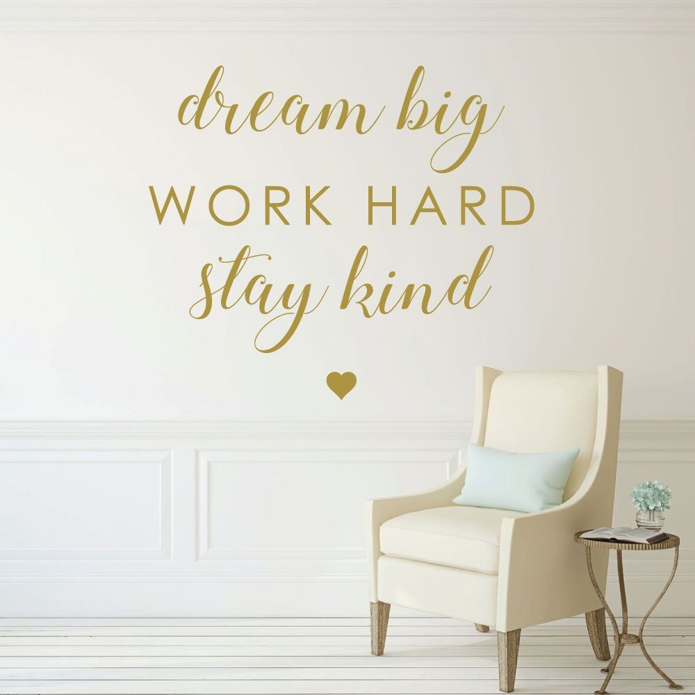 Classroom Decor Blue ~ Inspirational saying dream big work hard be kind
