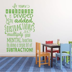 Math Classroom Decorations - Vinyl Wall Decal Stickers or Sign for Teachers and Schools