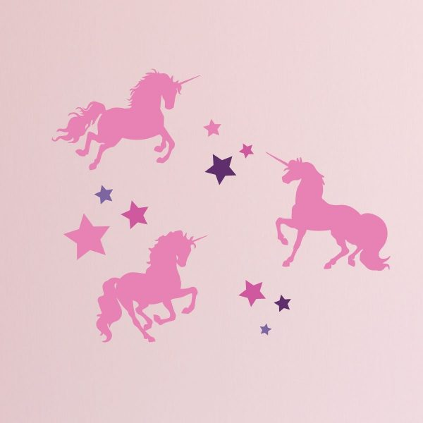 Unicorn Magic Never Stop Believing - Full Wall Mural Vinyl Girl's Bedroom Decor Nursery Teen Girl