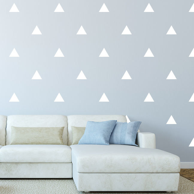 Triangle Shapes Vinyl Wall Decal Decorations