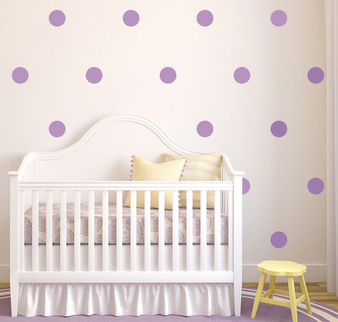 Polka Dot Circles Vinyl Decorative Decals