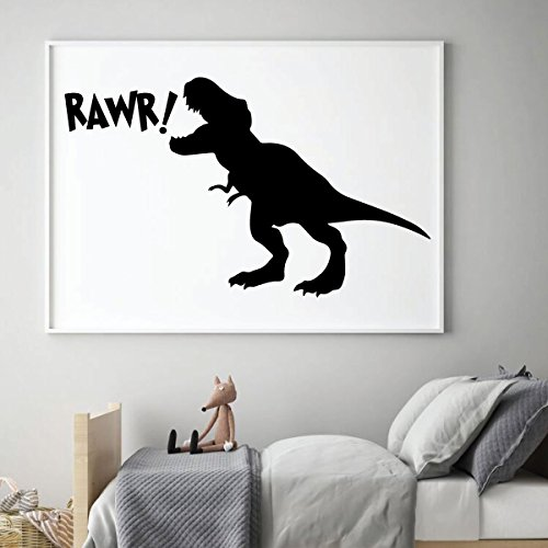 black rawr dinosaur t rex vinyl decal