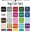 Custom Vinyl Decor Color Chart