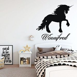 black unicorn majestic vinyl wall decor