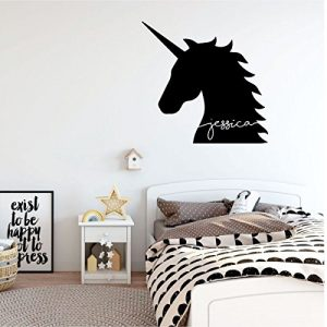 black unicorn silhouette vinyl wall decor