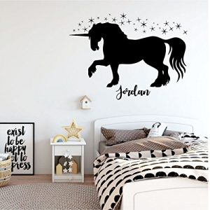 black unicorn stars vinyl wall decor