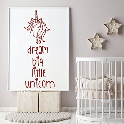 dark red unicorn dream vinyl wall decor