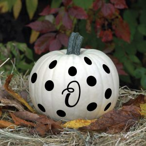 Halloween Decor Pumpkin Vinyl Lettering Decals