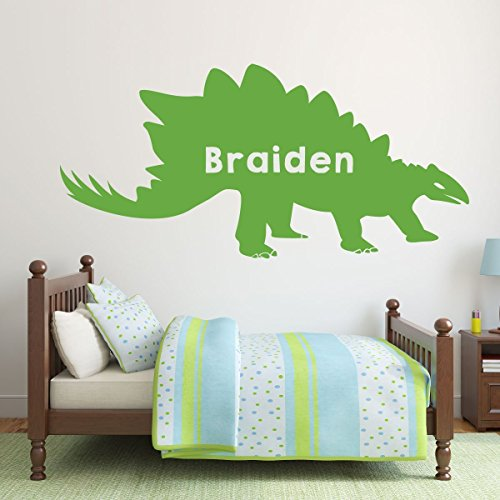 lime green dinosaur stegosaurus silhouette vinyl wall decor