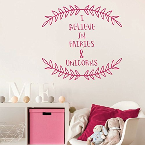 pink unicorn fairies vinyl wall decor