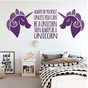 purple unicorn 2 always be vinyl wall decor