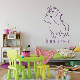 purple unicorn i believe vinyl wall decor