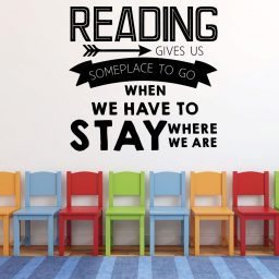Reading Gives Us Someplace To Go Vinyl Wall Decal