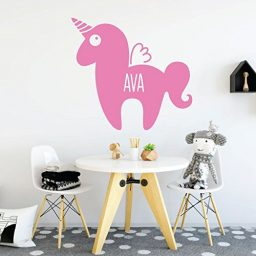 soft pink unicorn stuffy custom vinyl decor