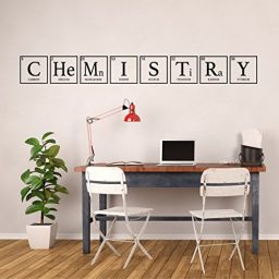 black chemistry periodic table vinyl wall decor