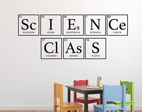 black science class periodic table custom vinyl decor