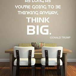 white think big vinyl wall decor