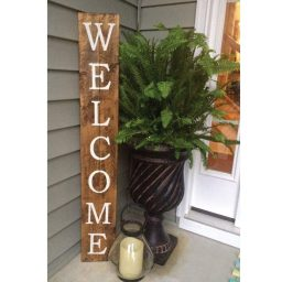 "Porch Decor - Home Decoration -""Welcome"" Door Sign Vinyl Art Decal - wooden sign not included. This product is for vinyl decal only"