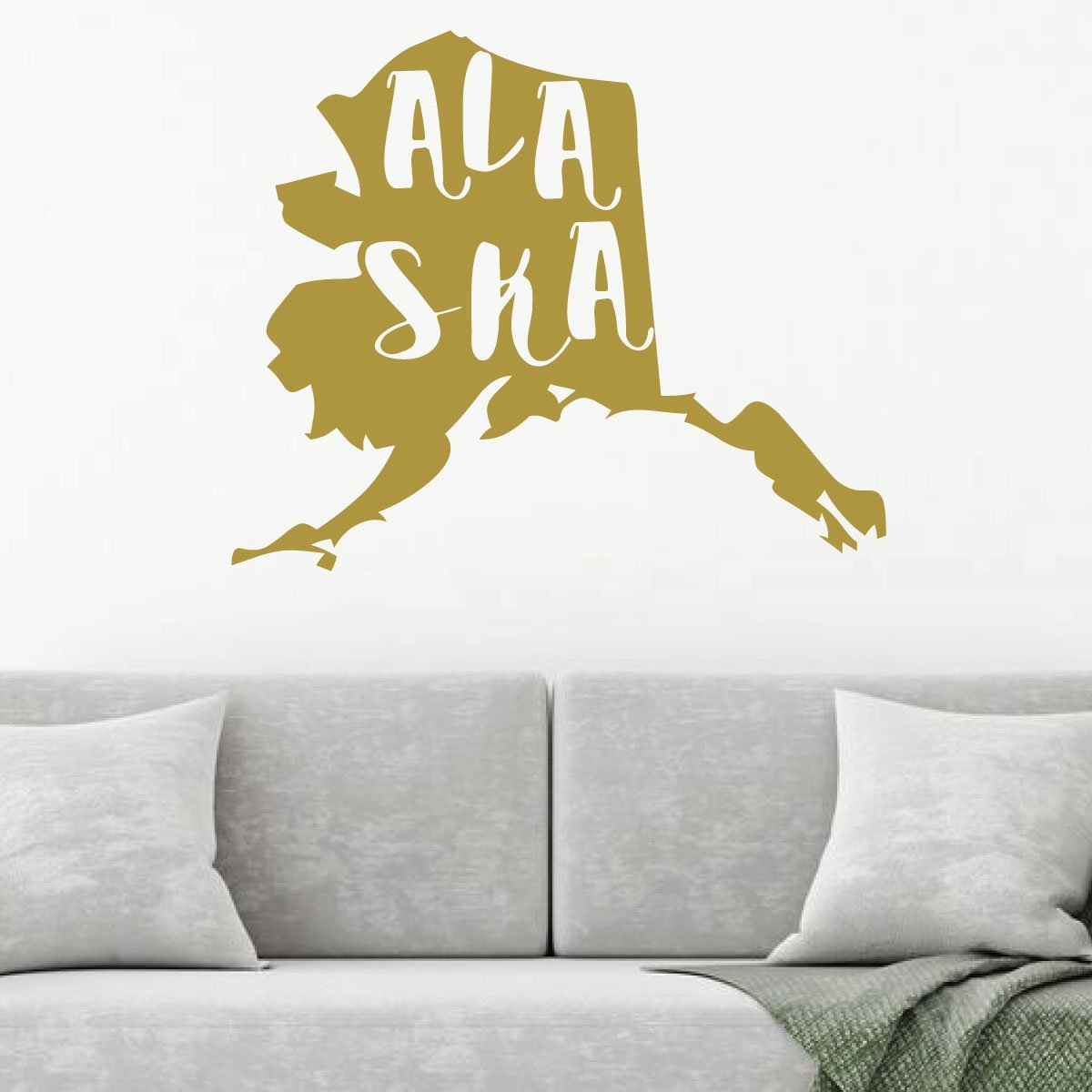 Excellent Alaska Name And State Silhouette Wall Decal Vinyl Design Home Decor Home Interior And Landscaping Ologienasavecom