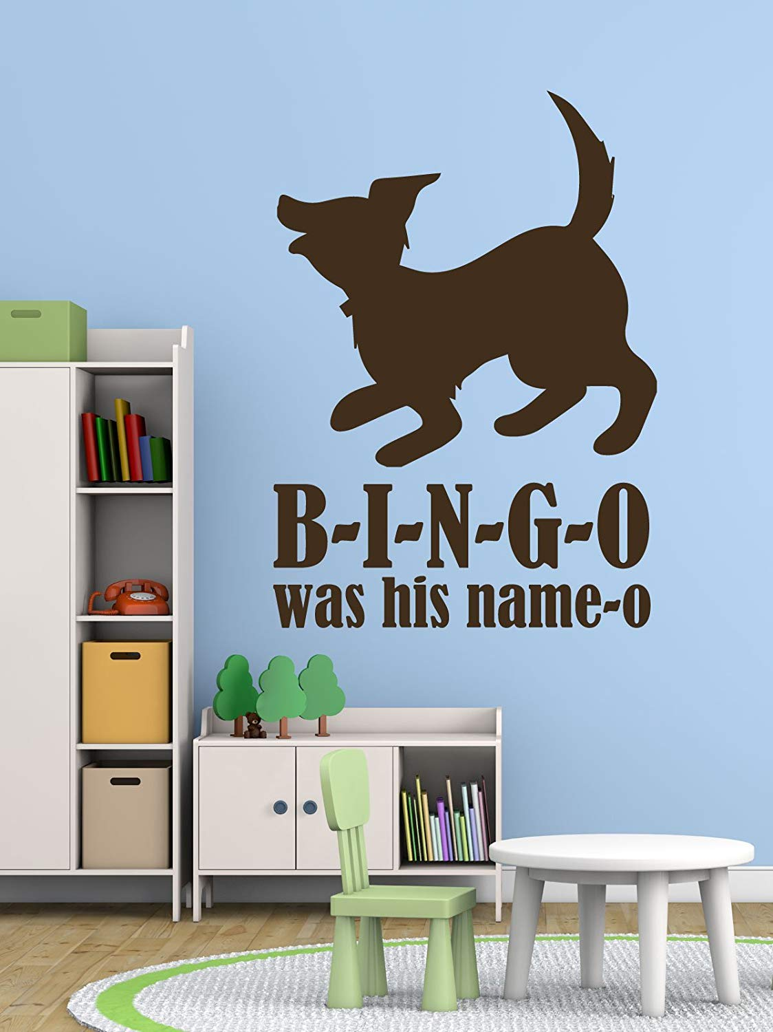 Bingo Song Nursery Rhyme Wall Decals Vinyl Decor Wall