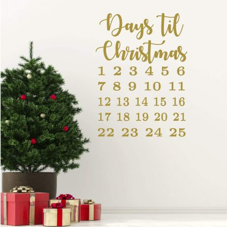 Christmas Countdown Calendar Decal Vinyl Decor Wall Decal
