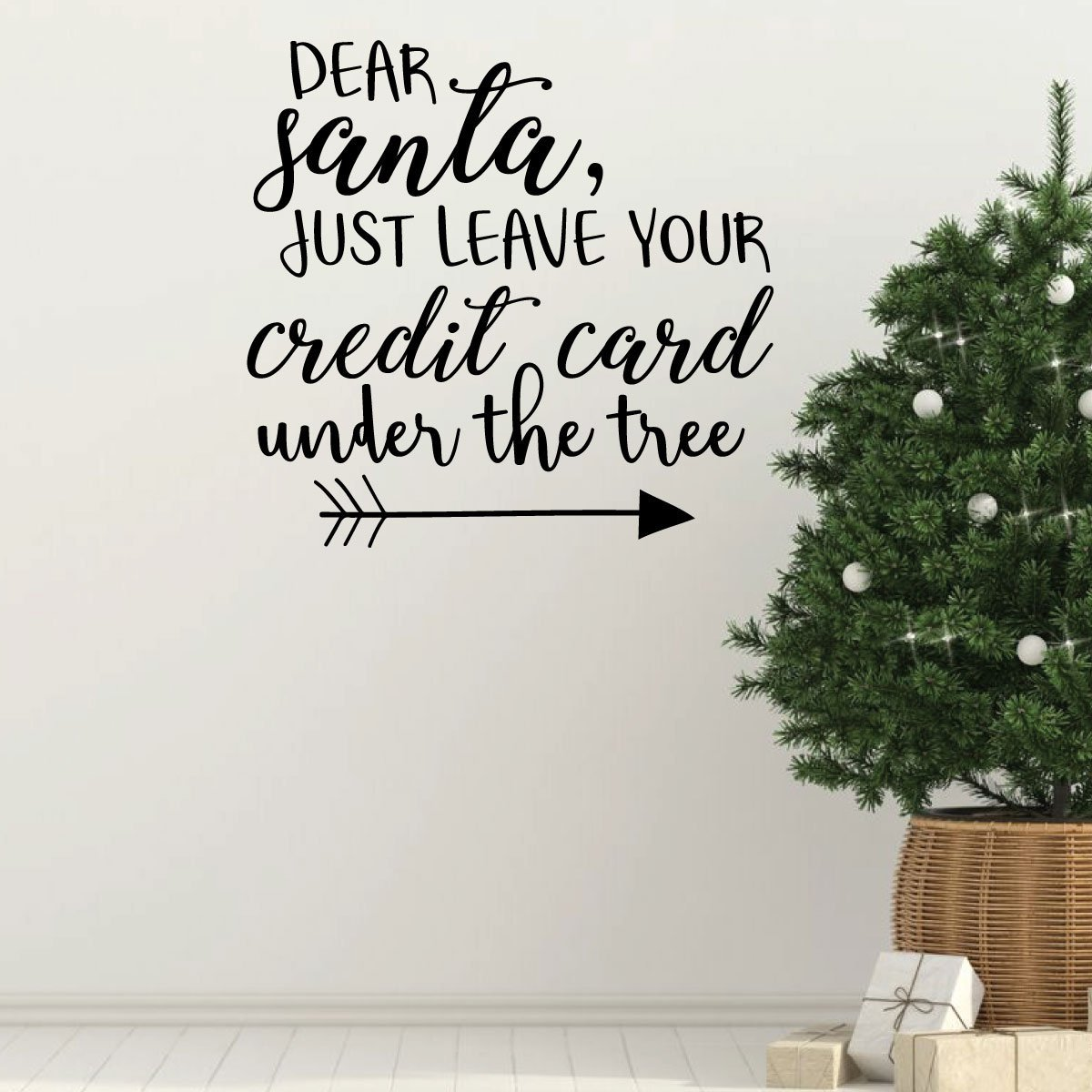 Christmas Wall Decals Removable.Christmas Wall Decal Dear Vinyl Decor Wall Decal