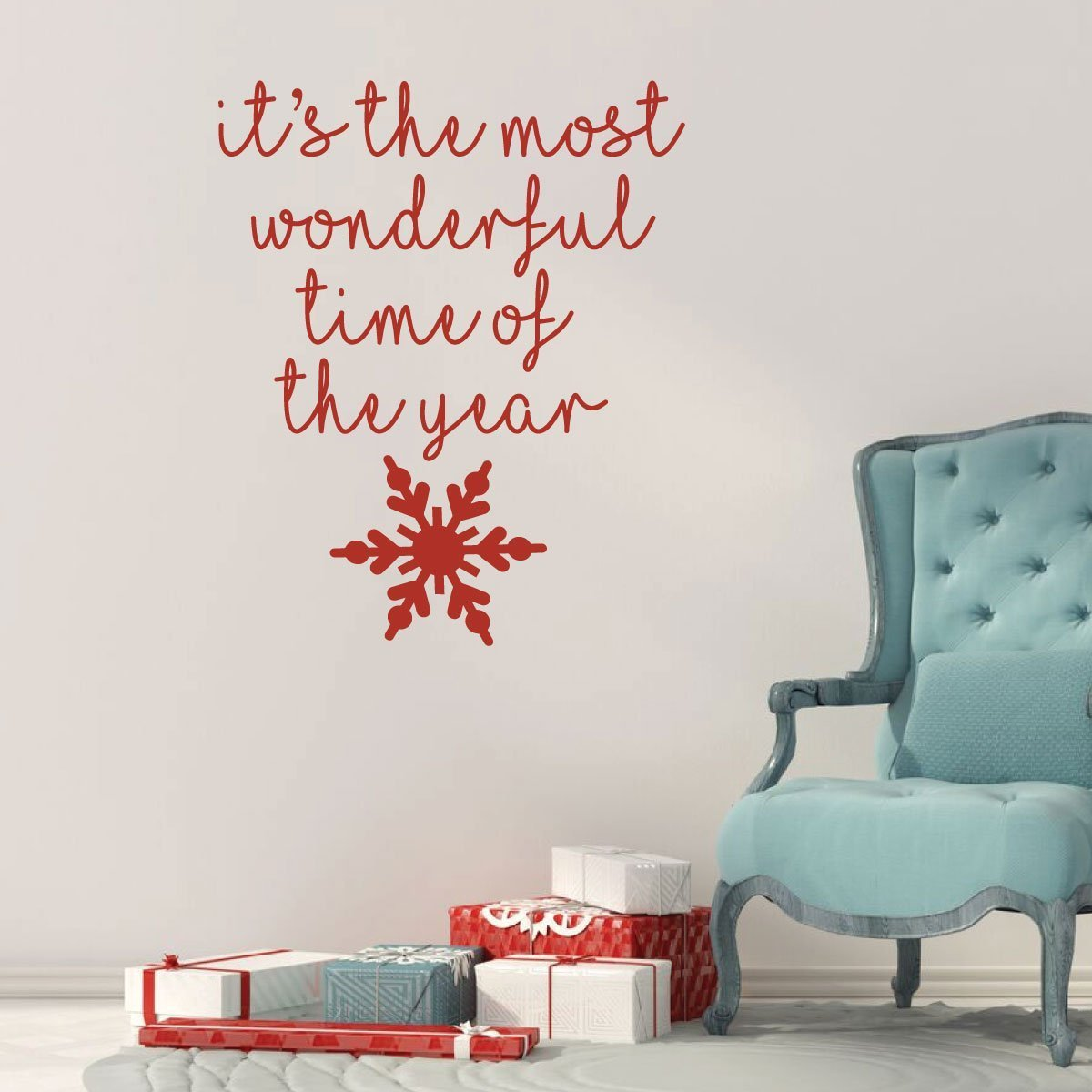Christmas Wall Decals Removable.Christmas Wall Decal Its Vinyl Decor Wall Decal