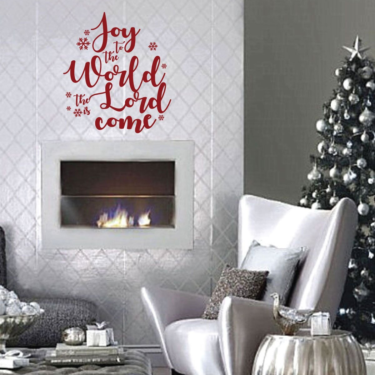 Christmas Wall Decals Removable.Christmas Wall Decals Joy Vinyl Decor Wall Decal