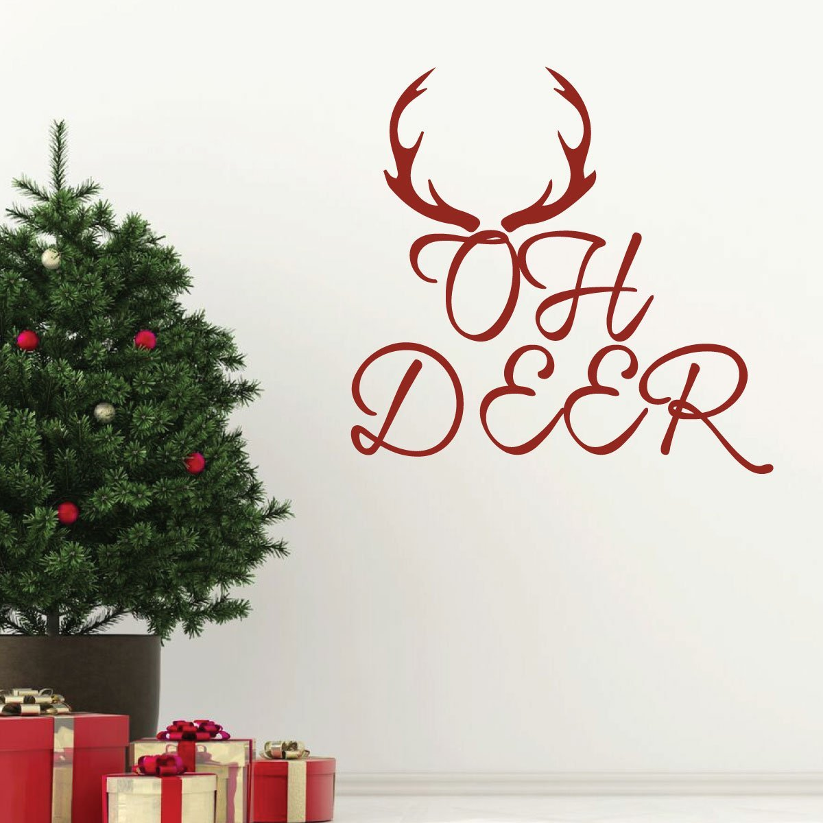 Christmas Wall Decals Removable.Christmas Wall Decals Oh Vinyl Decor Wall Decal