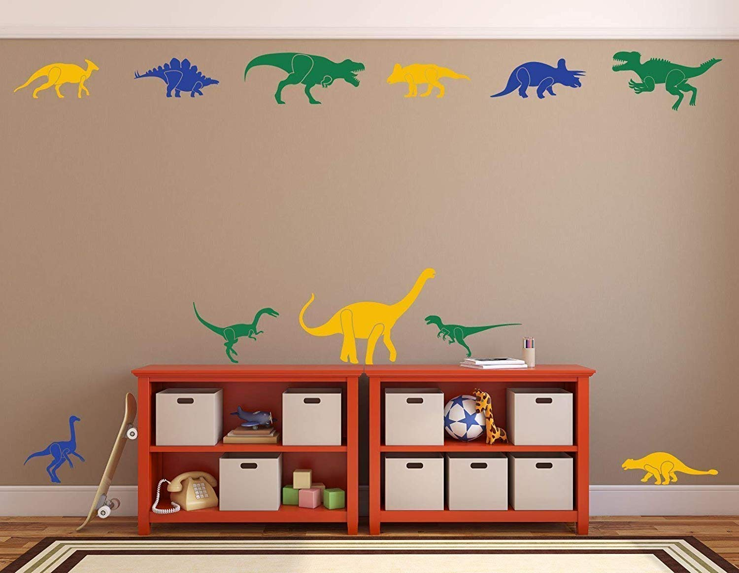 Dinosaur Wall Decals for Boys Vinyl Decor Wall Decal