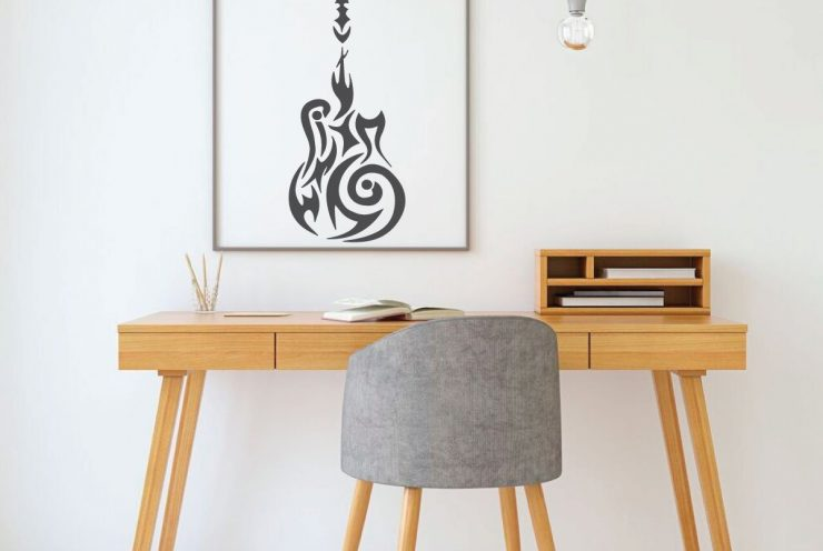 Guitar Design Vinyl Decor Wall Decal