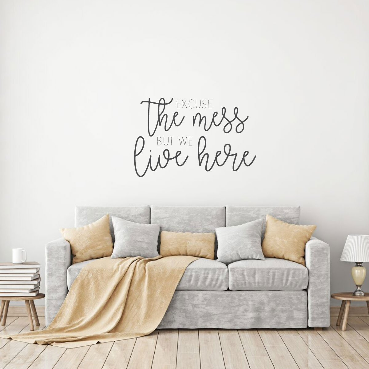 Excuse the Mess Quote for Living Room Vinyl Home Decor