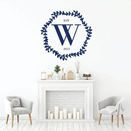 Family Letter Personalized Abbreviation Established Vinyl