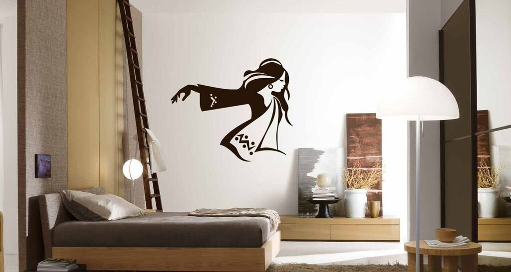 Fashionable Woman Wall Decals for Teen Girls Vinyl Decor Wall Decal