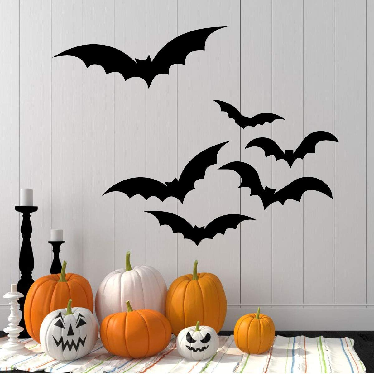 Flying Bat Silhouettes Halloween Decorations Vinyl Decor Wall Decal