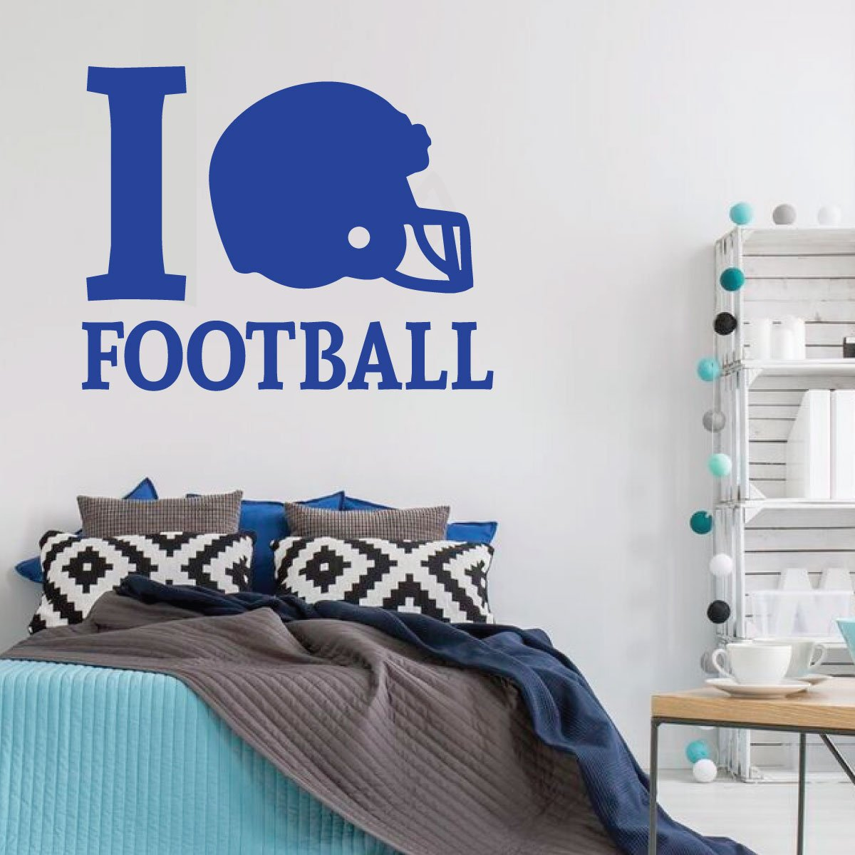 Football Wall Decal I Vinyl Decor Wall Decal