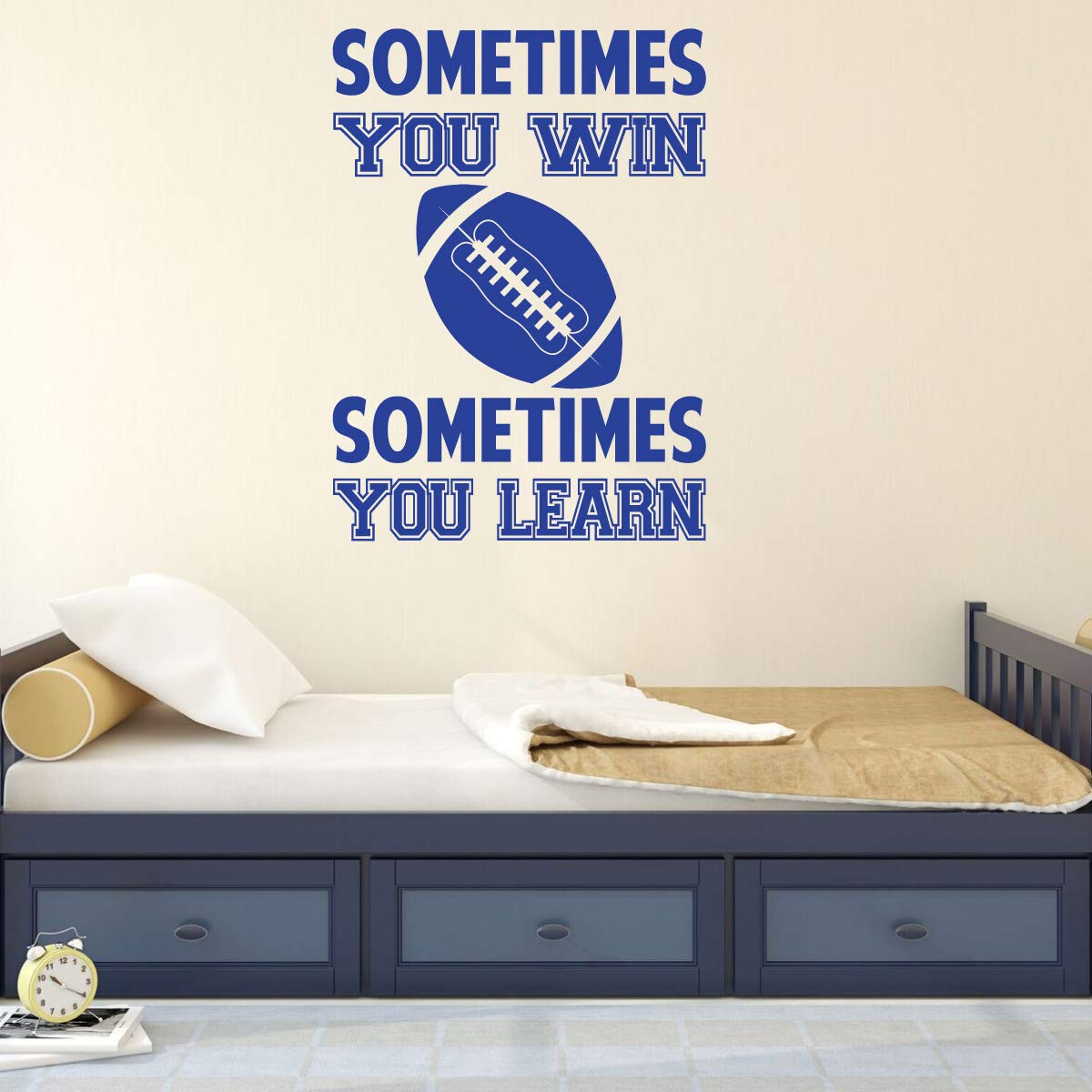 Football Wall Decal Motivational Vinyl Decor Wall Decal