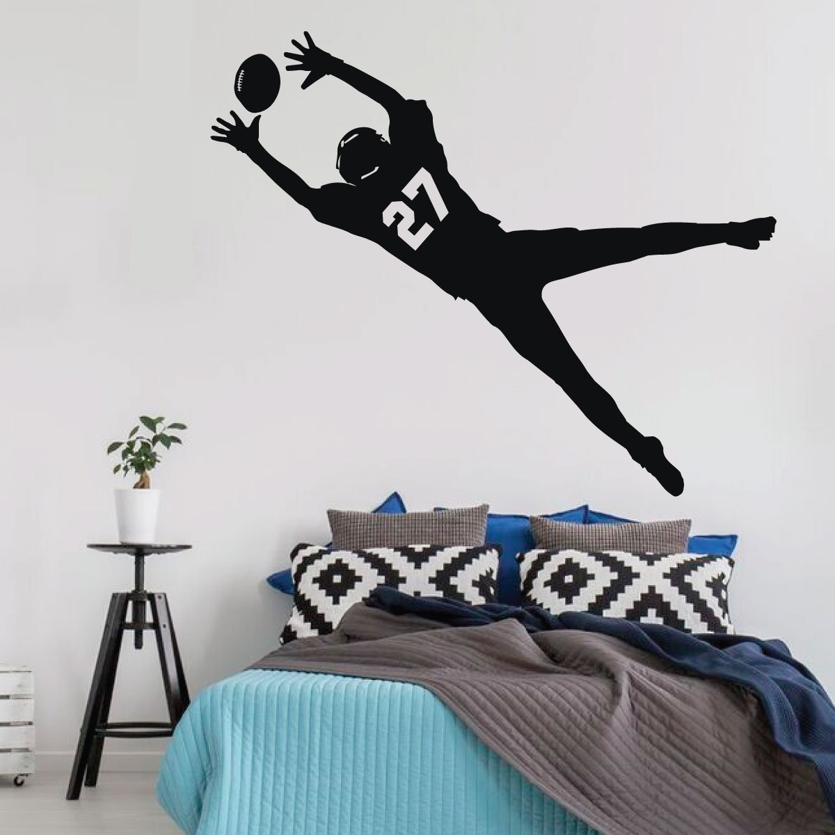 Football Wall Decal Player Vinyl Decor Wall Decal
