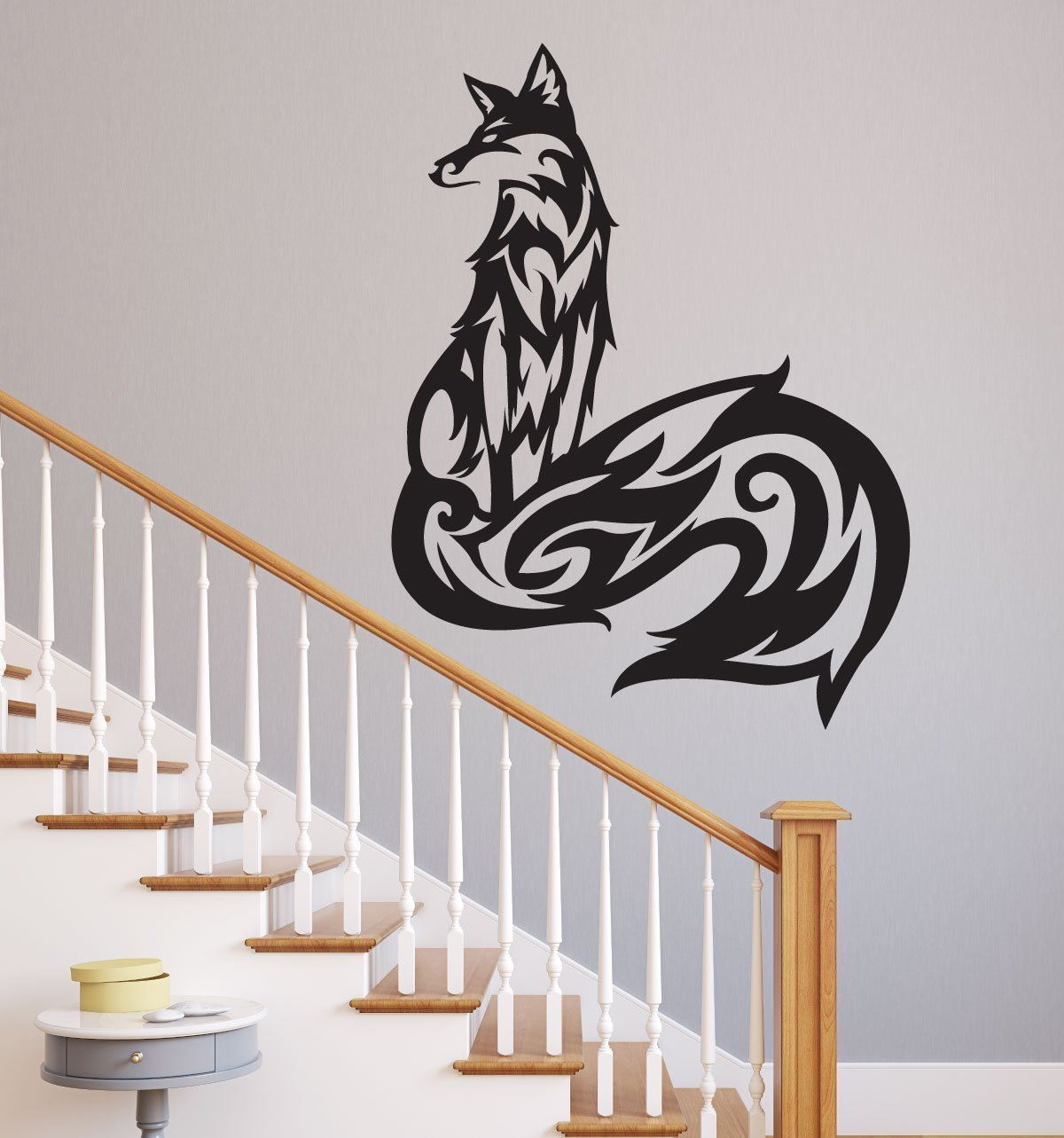 Fox Vinyl Wall Decal Nature Themed Design