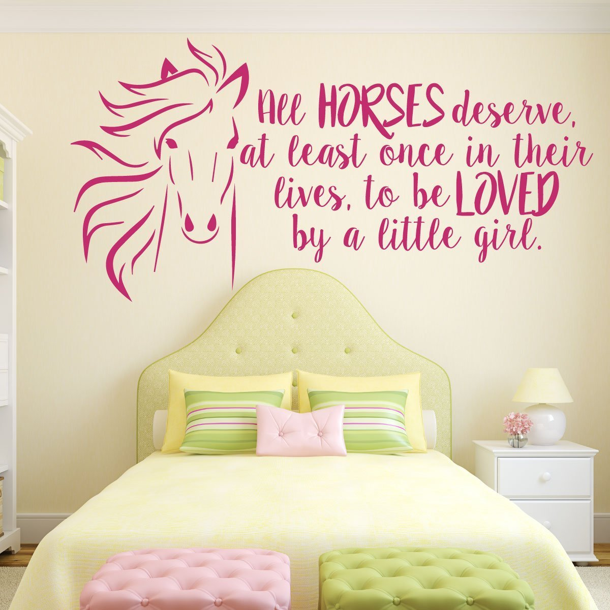 Girls Bedroom Horse Themed Wall Vinyl Decor Wall Decal